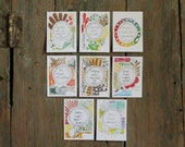 wisdom set no. 9 - daily wisdom cards - set of 9 - ATC sized