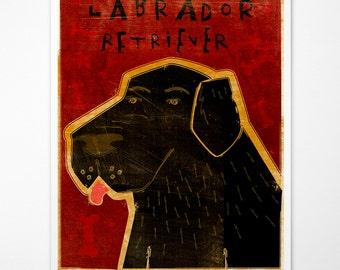 Labrador Retriever Print- Dog Wall Decor- Dog Wall Art- Black Lab Art- Dog Print- Labrador Retriever Gifts- Black Labrador Gifts