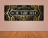Custom Gatsby Party Banner (2ft x 5ft Vinyl Banner)