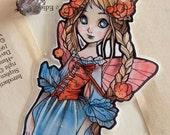 Bookmark -  Laminated - Charm - Fairy - Fantasy - Slavic Fairy - Folk Tale - Paper Goods