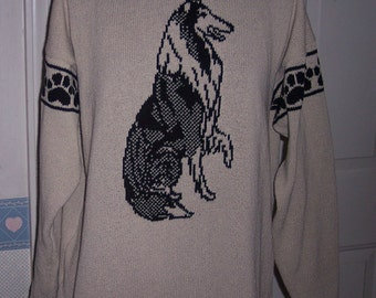 Custom Knit Rough Collie Sweater ****Create your own sweater see below*****