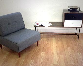 READY to Ship!  BOKZ Button Back slipper chair. Mid Century Modern