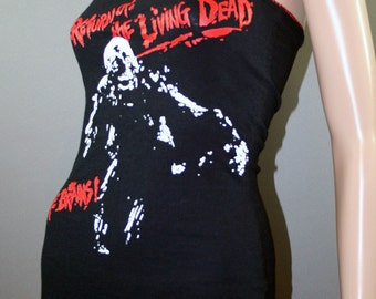 Return Of The Living Dead Lace Zombie Halter Top Horror Movie