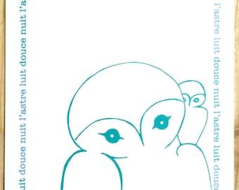 3 x Owl Postcard illustration