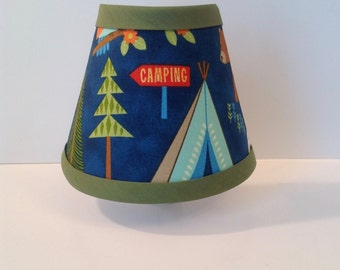 Camping Out Night Light with Tent and Bear (READY TO SHIP!!)