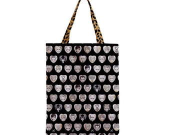 BLACK HEARTS tote bag by Megan Besmirched