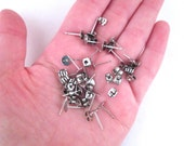 6mm flat pad stainless steel ear studs with ear nuts, pick your amount
