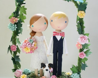 custom wedding cake topper - standard arch