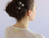 Crystal bridal hair pins - Mini crystal starburst bobbies, set of 3 - Style 660 - Read to Ship