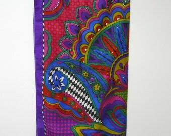 multicolor psychedelic bandana . large