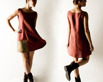 Linen tunic, Short dress, Linen dress, Shift dress, Tunic dress, Day dress, Sundress, Short dress, Summer dress, Women clothing, Aline dress