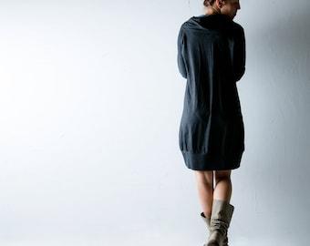 Cotton dress, Sweater dress, Jersey tunic, jersey dress, Long sleeve dress, Cowl dress, Plus size, Maternity dress, Women clothes, sweater