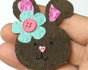 Bunny, Rabbit Badge Reel, Bunny Badge Card Holder,Easter, ID Holder, Nursing Name Badge Holder, Rabbit, Retractable