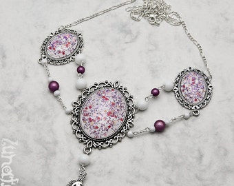 My Unicorn Collier Kollier Necklace XL large pink pastell goth Fantasy Fairy Tale handmade fashion jewelry