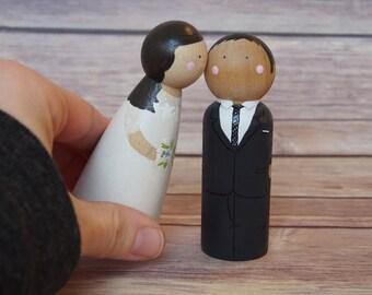 Custom Wedding Toppers // bride and groom // custom wedding cake toppers // personalized wedding cake toppers