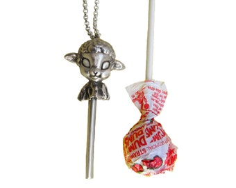 Lamb Necklace     lollipop jewelry silver gold jewelry