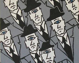 Cyclops wall art, cyclops art, cyclops painting, one eyed wall art, one eyed art, one eyed painting, man wall art, man art, man painting