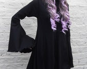 Gothic Rose Dress ~ Goth ~ Dark Faerytale ~ Fantasy ~ Boho ~ Made to Order ~ Sizes 6 to 30 ~ Last Chance to Buy