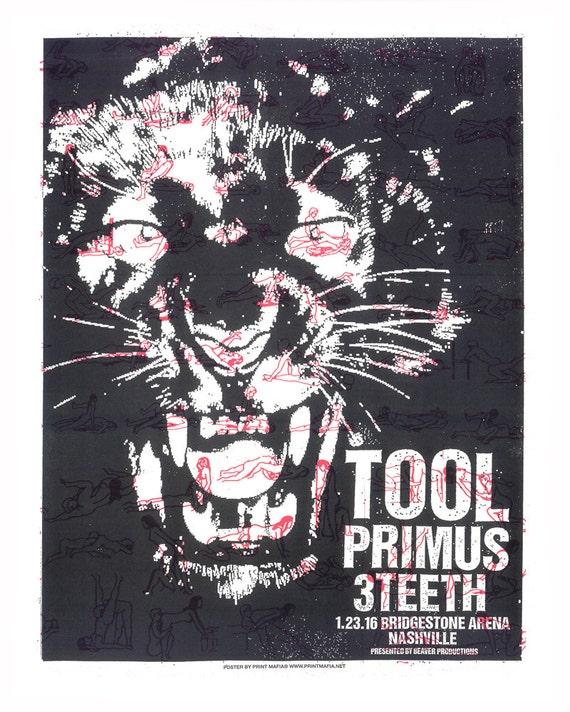 TOOL Primus Nashville Screen Print Concert Poster By Print
