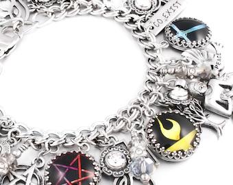 Buddha Jewelry, Coexist Bracelet, Spiritual Jewelry, Peace Sign, Balance Bracelet, Yoga Jewelry, Lotus Charm, Ohm Charm
