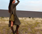 Organic Gypsy Petal Back Below Knee Dress (light hemp/organic cotton knit) - organic dress