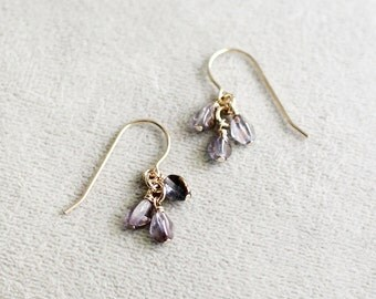 SALE! - fräulein in plum - earrings by elephantine