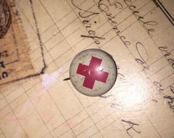 Vintage Red Cross Badge