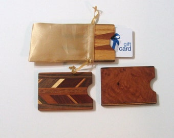 Gift card Box Three Pack Made From Exotic Woods