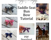 Saddle Seat Bun Bow Hair Bow Tutorial PDF Instant Download