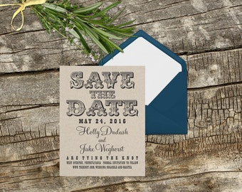 Large custom save the date rubber stamp for Make your own save the dates for your wedding --13035-CB28-000