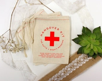 Wedding Favor Bags, Party Favor Bags, Hangover Kit, Bachelor Party Favors, Bachelorette Party Favors, 3 x 5 --64518-MB03-610
