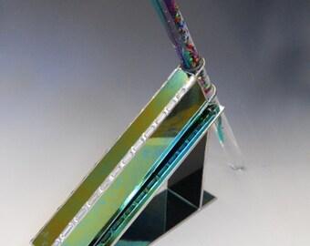 Oil Wand Kaleidoscope, Magic Wand Kaleidoscope, Black Iridescent Glass, Awesome Adult Toy