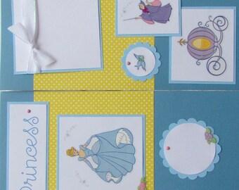 12x12 Premade Scrapbook Pages Layout for girl --  BEAUTIFUL PRINCESS -- DiSNeY PriNCeSS ~ CINDERELLA