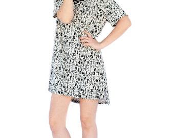 Agoraphobix  letter print monochrom perfect T shirt  dress | mini dress