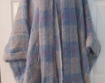 Donegal Designs Casuals in Mohair vintage purple wrap cloak poncho Ireland