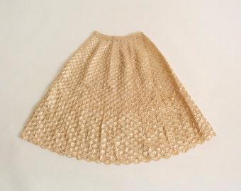 Vintage Straw Woven Skirt - 1950s Hula Style Raffia Grass Tiki Full Skirt - 24 inch waist