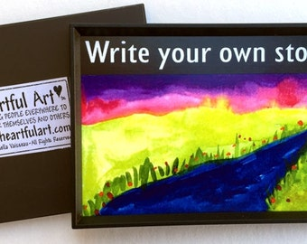 WRITE Your OWN STORY Graduation Original Poem Inspirational Quote Gift Motivational Print Encouragement Heartful Art by Raphaella Vaisseau