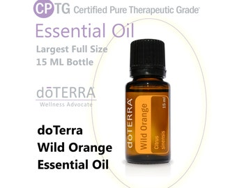 Wild Orange Essential Oil doTerra Largest Bottle 15 ML Full Size Aromatherapy Oil Soap Scent Perfume Oil Diffusers Pure Wild Orange Oil