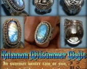 Rhiannon Midsummer Magic Rainbow Moonstone moon and Owl Horse