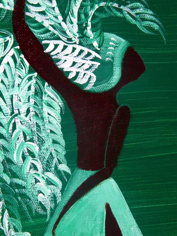 Green Feather Man - Fine Art PRINT - Wall Art - Shelf, Mantle and Desk Decor