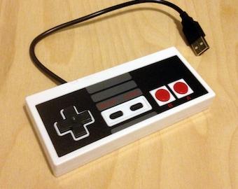 Flash Drive, USB Drive, USB Flash Drive, Thumb Drive, Jump Drive, Nintendo Controller Flash Drive, NES Drive, 16GB
