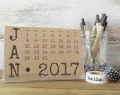 2017 Calendar, Desktop Calendar with Stand, Gift for Women, Boyfriend Gift, Gift for Wife, Best Friend Gift, Stocking Stuffer, Gift for Boss