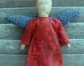 Primitive Handmade Linen Angel Ornament