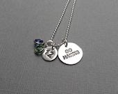 "Seahawks Charm Necklace Sterling Silver Swarovski Crystal ""12"" Fan Football Sports Jewelry"