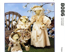 McCall's 8086 The Beekeepers Stuffed Bear Doll Family Mother Babies Rosenbear Designs by Gloria Rosenbaum Uncut Craft Sewing Pattern 1996