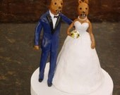 Custom Cake Topper with Mascots in Personalized Wedding Attire - Final Payment