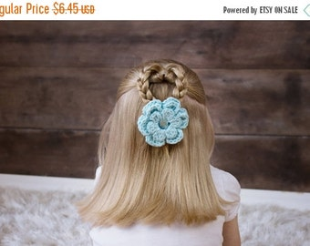 20% OFF Aqua Blue Hair Clip Aqua Hair Clip Aqua Crochet Flower Hair Clip Flower Barrette Baby Girl Hair Clip Toddler Girl Spring Hair Clip S