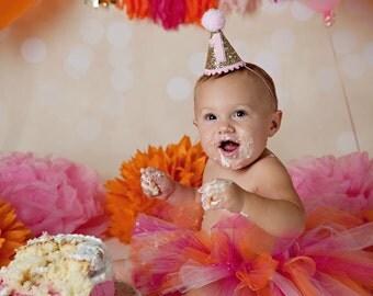 First Birthday Outfit Girl Tutu, Cake Smash Outfit Girl Tutu, 1st Birthday Outfit Tutu, Tulle Skirt, 1st Birthday Tutu, SEWN Tutu Skirt Gift