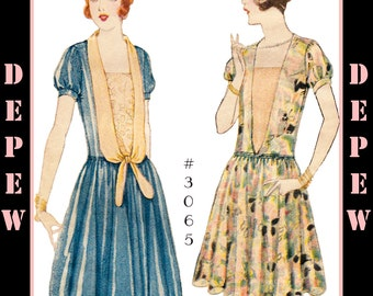 Vintage Sewing Pattern Reproduction Ladies' 1920s Dress #3065 - INSTANT DOWNLOAD