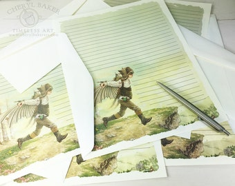 Fairy Stationery Paper - Stationery Paper Set - Stationery Set - Writing Paper - Lined Paper - Fairy Invitation - Woodland Paper - Fairies